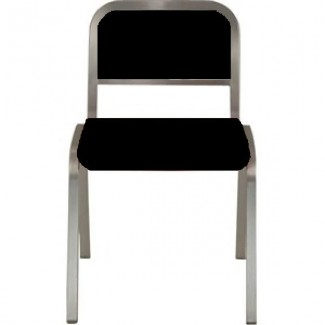 Nine-0 Aluminum Stacking Soft Back Side Chair
