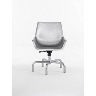 Sezz Aluminum Swivel Chair with Glides