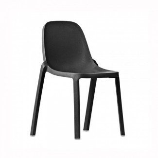 Broom Recycled Restaurant Chair in Dark Grey