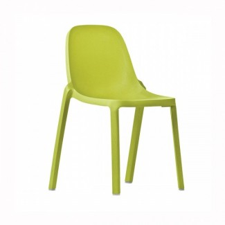 Eco Friendly Outdoor Restaurant Breakroom Chairs Broom Recycled Chair - Green