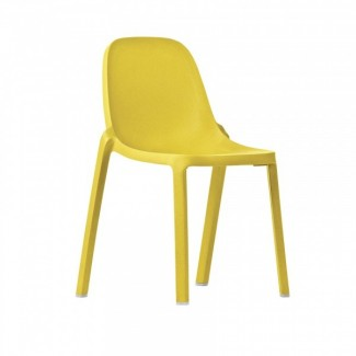 Eco Friendly Outdoor Restaurant Breakroom Chairs Broom Recycled Chair - Yellow