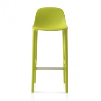 Eco Friendly Outdoor Restaurant Breakroom Chairs Emeco Broom 30 Barstool - Green