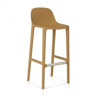 Eco Friendly Outdoor Restaurant Breakroom Chairs Emeco Broom 30 Barstool - Natural