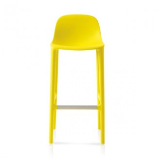Eco Friendly Outdoor Restaurant Breakroom Chairs Emeco Broom 30 Barstool - Yellow