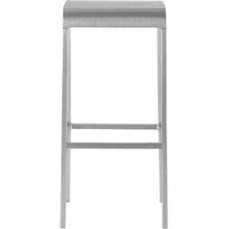 Eco Friendly Outdoor Restaurant Furniture 20-06 Aluminum Bar Stool - Hand Brushed