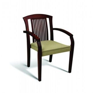 Beech Wood Stacking Arm Chair 10 Series with Slat Back