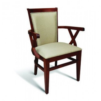 Beech Wood Arm Chair 123 Series with Padded Back