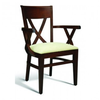 Beech Wood Arm Chair 123 Series with Cross Back