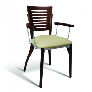 Eco Friendly Restaurant Beech Solid Wood Arm Chair 1650 Series