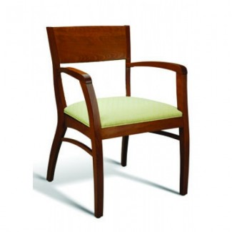 Eco Friendly Restaurant Beech Solid Wood Arm Chair 185 Series
