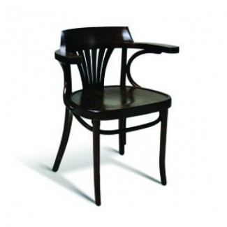 Eco Friendly Restaurant Beech Solid Wood Arm Chair 23 Series