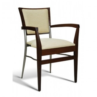 Beech Wood Stacking Arm Chair 269 Series with Padded Seat and Back