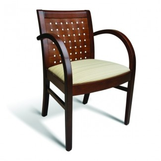 Eco Friendly Restaurant Beech Solid Wood Arm Chair 350 Series