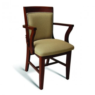 Eco Friendly Restaurant Beech Solid Wood Arm Chair 379 Series