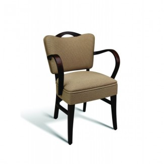 Eco Friendly Restaurant Beech Solid Wood Arm Chair 440 Series