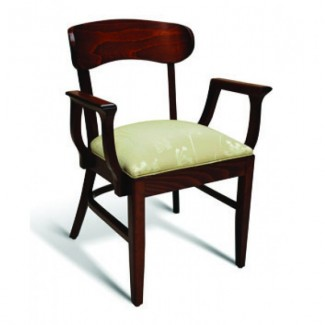 Beech Wood Stacking Arm Chair CC100 Series with Padded Seat