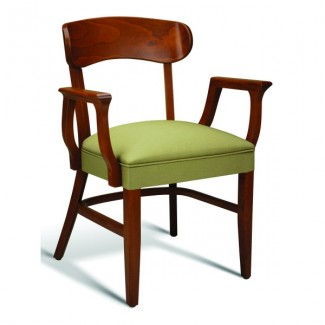 Eco Friendly Restaurant Beech Solid Wood Arm Chair CC100 Series