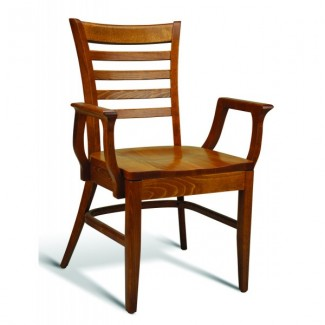 Beech Wood Stacking Arm Chair CC105 Series with Saddle Seat