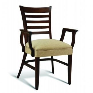 Beech Wood Stacking Arm Chair CC105 Series with Wrapped Sides