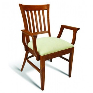 Beech Wood Stacking Arm Chair CC110 Series with Padded Seat