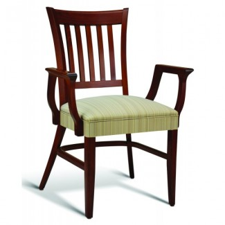 Beech Wood Stacking Arm Chair CC110 Series with Wrapped Sides