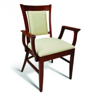 Eco Friendly Restaurant Beech Solid Wood Arm Chair CC111 Series