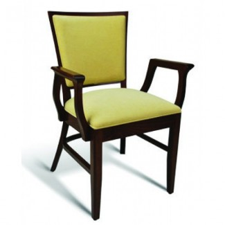 Eco Friendly Restaurant Beech Solid Wood Arm Chair CC115 Series