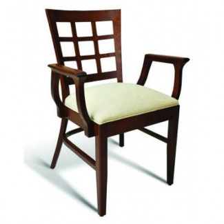 Beech Wood Stacking Arm Chair CC117 Series with Padded Seat
