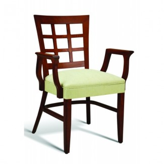 Eco Friendly Restaurant Beech Solid Wood Arm Chair CC117 Series