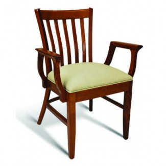 Eco Friendly Restaurant Beech Solid Wood Arm Chair CC120 Series