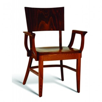 Eco Friendly Restaurant Beech Solid Wood Arm Chair CC135 Series