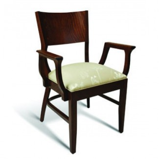 Beech Wood Stacking Arm Chair CC140 Series with Padded Seat
