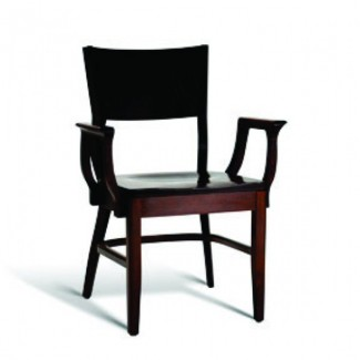 Beech Wood Stacking Arm Chair CC140 Series with Saddle Seat