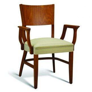 Beech Wood Stacking Arm Chair CC140 Series with Wrapped Sides