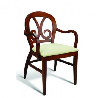 Eco Friendly Restaurant Beech Solid Wood Arm Chair HARP Series