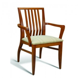 Eco Friendly Restaurant Beech Solid Wood Arm Chair INCLINE Series
