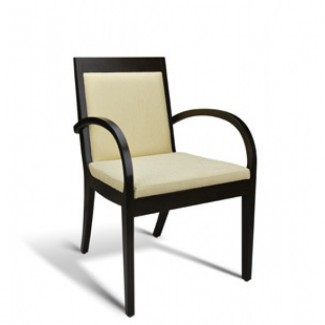 Eco Friendly Restaurant Beech Solid Wood Arm Chair METROPOLITAN Series