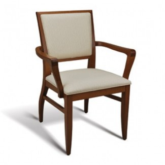 Eco Friendly Restaurant Beech Solid Wood Arm Chair NORFOLK Series