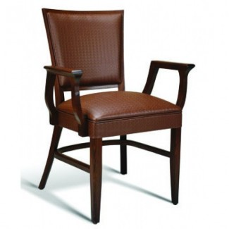 Beech Wood Stacking Arm Chair Quincy Series with Wrapped Sides