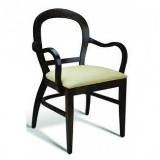 Eco Friendly Restaurant Beech Solid Wood Arm Chair WISP Series