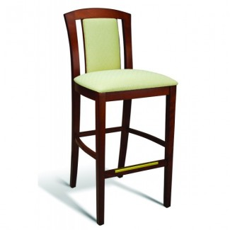 Beech Wood Bar Stool 10 Series with Padded Slat Back