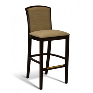 Beech Wood Bar Stool 10 Series with Padded Back