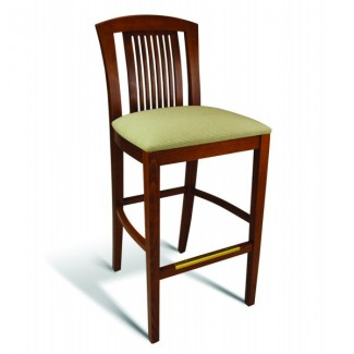 Beech Wood Bar Stool 10 Series with Slat Back
