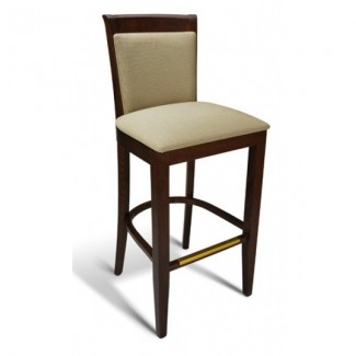 Beech Wood Bar Stool 123 Series with Padded Back