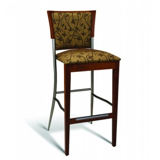 Beech Wood Bar Stool 269 Series with Padded Back