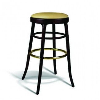 Beech Wood Backless Bar Stool 302 Series with Padded Seat