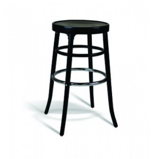 Beech Wood Backless Bar Stool 302 Series with Veneer Seat