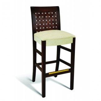 Beech Wood Bar Stool 350 Series with Wrapped Sides