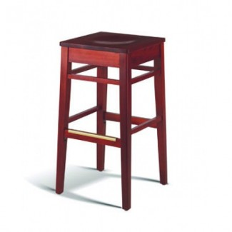 Beech Wood Backless Bar Stool 604 Series with Saddle Seat