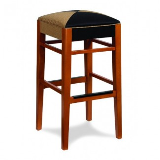 Beech Wood Backless Bar Stool 604 Series with Padded Seat